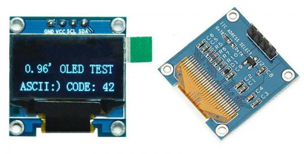 """0.96"""" I2C IIC Serial 128*64 OLED LCD Screen Display Module for Arduino, Raspberry osv oled display forsidebakside"""
