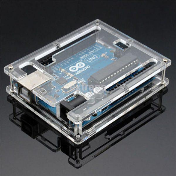 Arduino boks case Transparent Acrylic Case Enclosure Box Holder Fit for Arduino UNO ArduinoCase