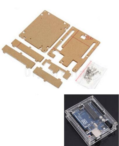 Arduino boks case Transparent Acrylic Case Enclosure Box Holder Fit for Arduino UNO ArduinoCase.2jpg