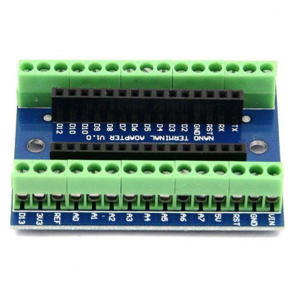 Arduino Nano tilkoblingsbrett Terminal Expansion Board Terminal Adapter IO Shield For Arduino NANO 1Pc CA Tilkoblingskort2
