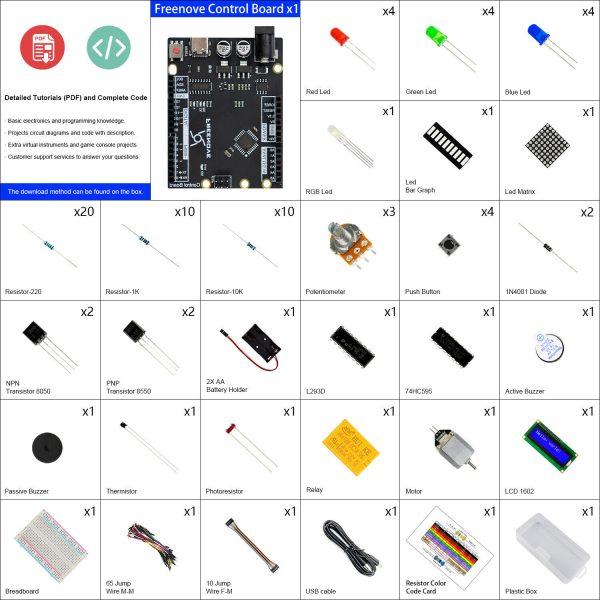 Arduino starter kit - utviklingssett for innovatører freenove4