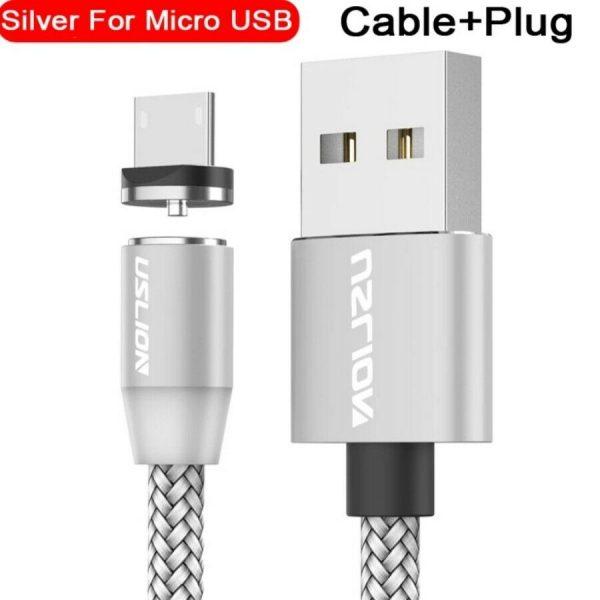 USB mikro kabel med magnetplugg og indikator lampe (Enkel tilkobling/lading!) USBmagnet