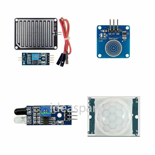 Arduino Kit med 22 sensormoduler - Sensor Modules Kit for Arduino, NodeMCU, Raspberry Pi osv (ideaSpark) kit22sensor05