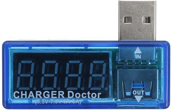 USB voltmeter ampermeter 3.5V-7V 0A-3A USB Charger Voltage Current Meter Mobile Tester Amper Voltmeter Power Detector Charge doctor Chargerdoctor02