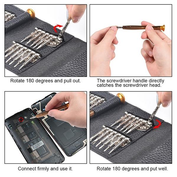 Presisjonsskrutrekkere - Skrutrekkersett for PC, mobiler, kamera og annen elektronikk Skrutrekkersett02